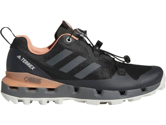 adidas TERREX Fast GTX-Surround Buty Kobiety, core black/grey five/chalk coral